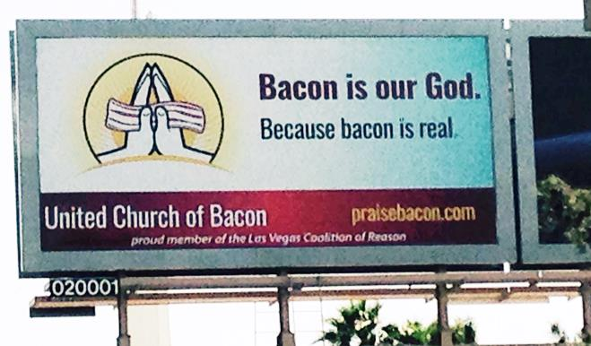 Protest Week Billboards Are Up! - United Church of Bacon