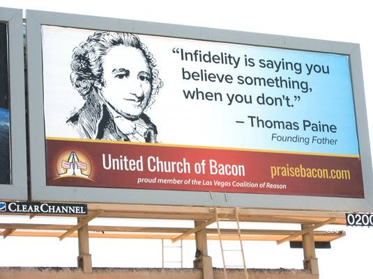 Thomas Paine Billboard in Las Vegas