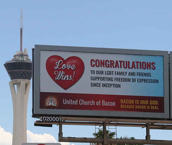 Love Wins Billboard in Las Vegas