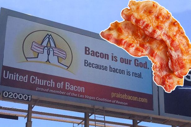 Church of Bacon membership trebles after offering free weddings, baptisms and funerals